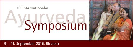 18. Internationales Ayurveda Symposium 9.-11.September 2016